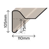B230 Upstand Trim Small - 3Mtr