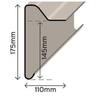 B300 Upstand Trim Extra Deep - 3Mtr