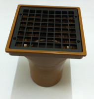 110mm Underground Square Hopper Head - Long neck