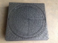 110mm Underground 450mm Round to Square Manhole Lid