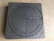 110mm Underground 450mm Round to Square Manhole Lid - CD456