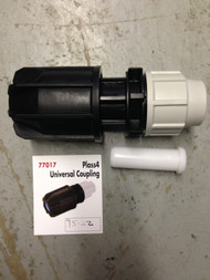 MDPE Blue Water Pipe - Universal Coupler 25mm to 20-27mm