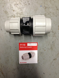 MDPE Blue Water Pipe - Reducing Coupler 25mm to 20mm