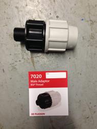 "MDPE Blue Water Pipe - Male Adaptor 20mm x 1/2"""