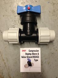 MDPE Blue Water Pipe - 25mm Stopcock