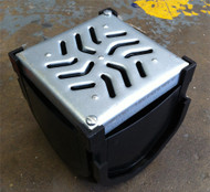 Galvanised Steel Topped Quad Box