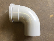 110mm Soil Pipe 90deg Single Socket Bend - Grey
