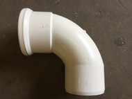 110mm Soil Pipe 90deg Single Socket Bend - White