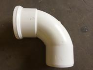110mm Soil Pipe 90deg Single Socket Bend - White