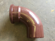 110mm Soil Pipe 90deg Single Socket Bend - Brown