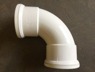 110mm Soil Pipe 90deg Double Socket Bend - White