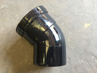 110mm Soil Pipe 45deg Single Socket Bend - Black