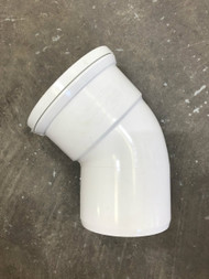 110mm Soil Pipe 45deg Single Socket Bend - White