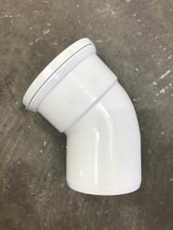 110mm Soil Pipe 45deg Single Socket Bend - White