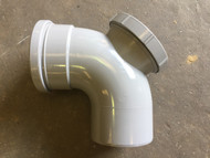 110mm Soil Pipe Access Bend - Grey