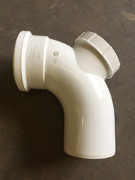 110mm Soil Pipe Access Bend - White