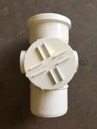 110mm Soil Pipe Straight Access Point - White
