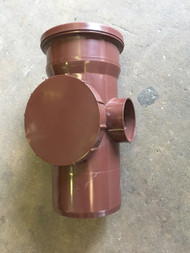 110mm Soil Pipe Straight Access Point - Brown