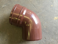 110mm Soil Pipe Bottom Offset Bend - Brown