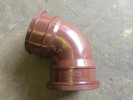 110mm Soil Pipe Single Socket Top Offset Bend - Brown