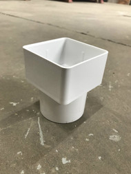 65mm Square to 68mm Round Downpipe Adaptor