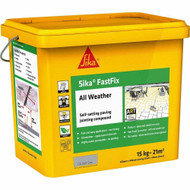 Sika FastFix All Weather Self-Setting Paving Jointing Compound, Grey, 14kg - 20 sq.m