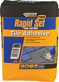 Everbuild 705 Rapid Set Floor and Wall Tile Adhesive, Grey, 20 kg