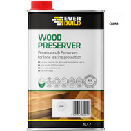 Everbuild Wood Preserver, Clear, 1 Litre