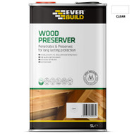 Everbuild Wood Preserver, Clear, 5 Litre