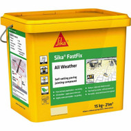 Sika FastFix All Weather Self-Setting Paving Jointing Compound, Charcoal, 15 kg - 17 sq.m