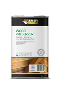 Everbuild Wood Preserver - 5Ltr - Silver Birch