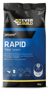 Everbuild JETCEM Rapid Setting Cement 3Kg Bag 30 minute drying time
