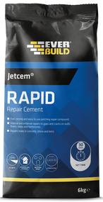 Everbuild JETCEM Rapid Setting Cement 6Kg Bag 30 minute drying time