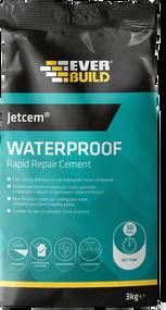 Everbuild JETCEM Waterproof Rapid Repair Cement 3kg bag, 30 minute drying time