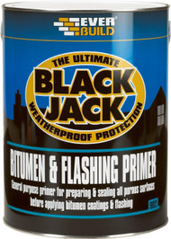 Everbuild Black Jack 902 Bitumen & Flashing Primer - 1Ltr Tin