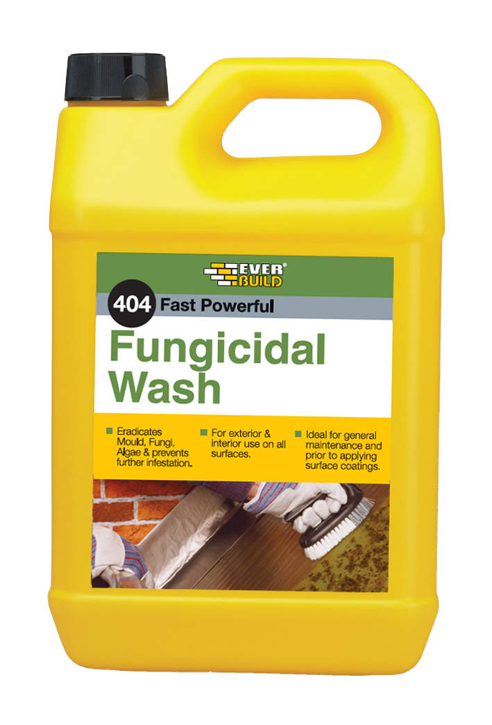 Everbuild 404 Fungicidal Wash 5Ltr, For Removing Moss And