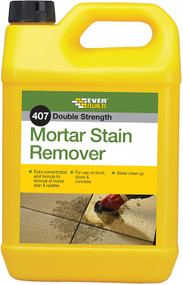 Everbuild 407 Mortar Cement Stain Remover Cleaner 5L Litre Fast Acting Formula