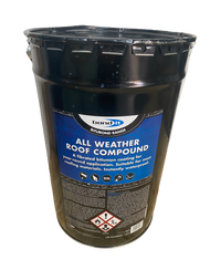 All Weather Roofing Compound 25Ltr Fibrated Bitumen Coating - Bond it