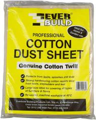 Everbuild 12' x 9' Cotton dust sheet