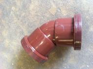 32mm Waste Pipe 45deg Offset Bend - Brown Push-fit