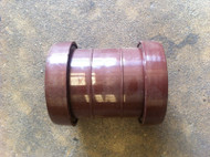 32mm Waste Pipe Straight Coupler - Brown Push-fit