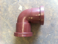 32mm Waste Pipe 90deg Elbow - Brown Push-fit