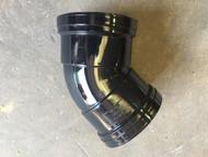 110mm Soil Pipe 45deg Double Socket Bend - Black