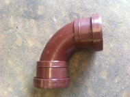 40mm Waste Pipe 90deg Sweeping Elbow - Brown Push-fit