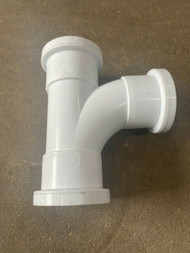 32mm Waste Pipe Tee Branch - White Push-fit