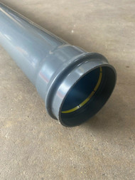 3Mtr Single Socketed Push-fit Soil Pipe - Anthracite Grey