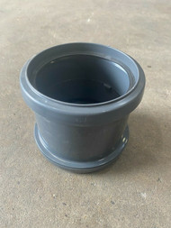 Push-fit Soil Pipe  Straight Coupler - Anthracite Grey