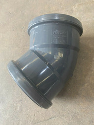 Push-fit Soil Pipe  45deg Double Socket Bend - Anthracite Grey