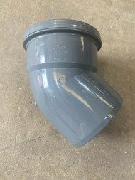 Push-fit Soil Pipe  45deg Single Socket Bend - Anthracite Grey