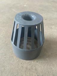 Push-fit Soil Pipe Balloon Grating - Anthracite Grey